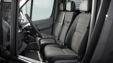 The Sprinter's cabin is well laid out with the use of durable plastics.