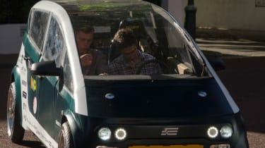 Flax fibre car - driving