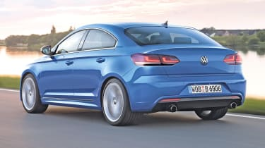Volkswagen Golf Coupe rear tracking