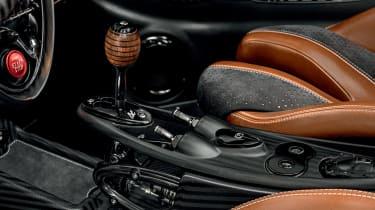 Pagani Huayra BC roadster interior gear shift