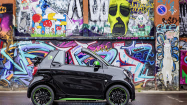 Smart ForTwo Cabrio Electric Drive - side static