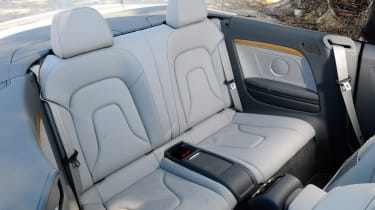Audi A5 Cabriolet TDI rear seats