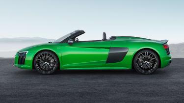 Audi R8 V10 Plus Spyder side