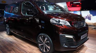 Peugeot Traveller i-Lab Concept - Geneva Stand Front Three Quarters