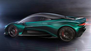 Aston Martin Vanquish Vision concept - side/rear