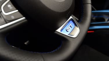 New Renault Megane 2016 hatchback GT steering wheel