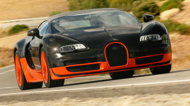 Fastest production cars in the world - Bugatti Veyron Super Sport