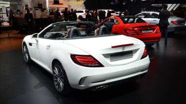 Mercedes SLC white - rear show