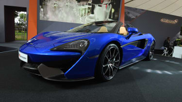 McLaren had a large presence at this year's Goodwood Festival of Speed, including the all-new 570 Spider.