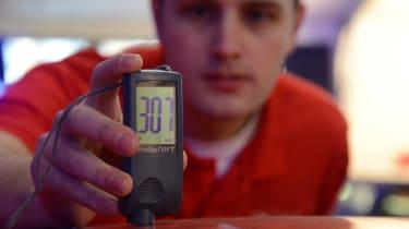 Depth gauge - in use
