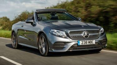 Mercedes E Class convertible - front driving