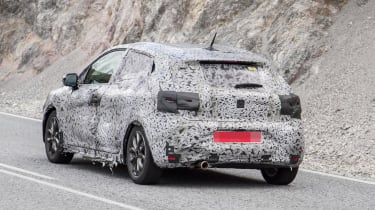 2019 Renault Clio spy shot rear quarter