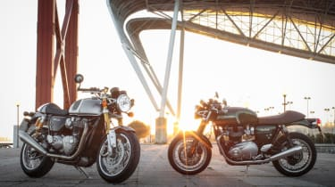 Triumph Thruxton R review - group