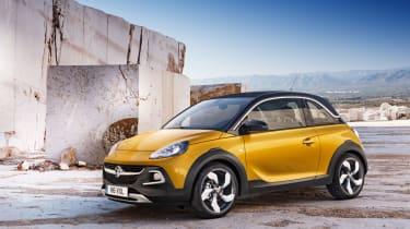 Vauxhall Adam Rocks yellow front
