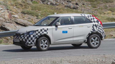 MG ZS spied - front action