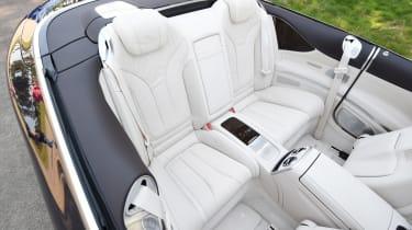 Mercedes S 500 Cabriolet 2016 - rear seats