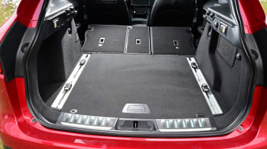 Jaguar F-Pace first drive - boot seats down