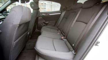 Honda Civic 2016 prototype - rear seats