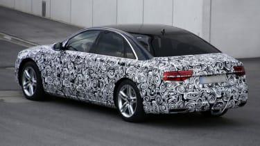 Audi A8 facelift rear three quarter