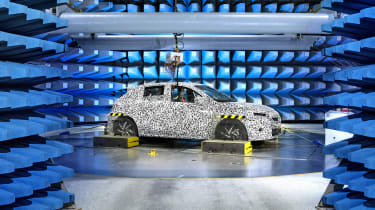 Vauxhall Corsa testing - front static