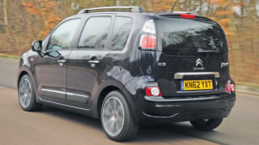 The C3 Picasso is very interesting to look at with a boxy shape and a giant glass area.