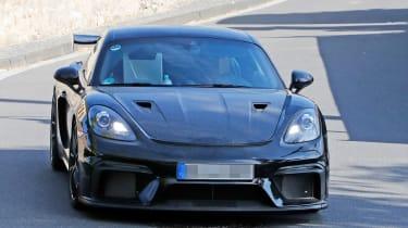 Porsche Cayman GT4 RS spy shots