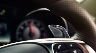 Mercedes C63 AMG saloon - steering close up