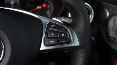 Mercedes C-Class Coupe - steering wheel detail