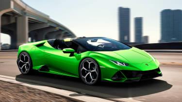Lamborghini Huracan Evo Spyder - front action