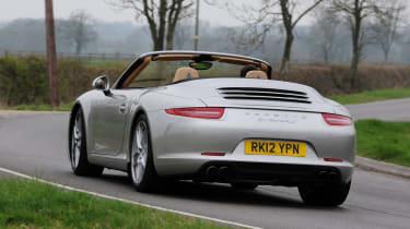 Porsche 911 Cabriolet rear cornering