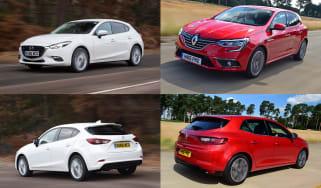 Mazda 3 vs Renault Megane - header