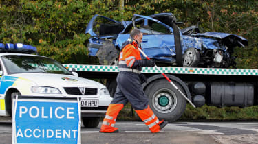 Police sign crash dangerous driving penalties