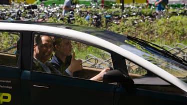 Flax fibre car - driver and passenger