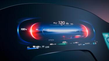 Mercedes EQS Hyperscreen infotainment - dials