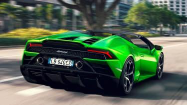 Lamborghini Huracan Evo Spyder - rear action