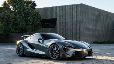 The FT-1 was Toyota's return to its performance car roots. It was a front-engined, rear-wheel-drive sports car unveiled at the 2014 North American International Motor Show andit was a first look at Toyota's planned replacement for the legendary Supra.