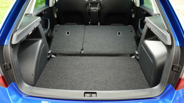Skoda Rapid Spaceback - folded seats