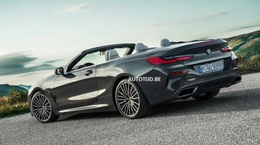 bmw 8 series convertible leaked static rear