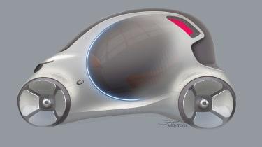Smart Vision EQ ForFour concept - sketch side