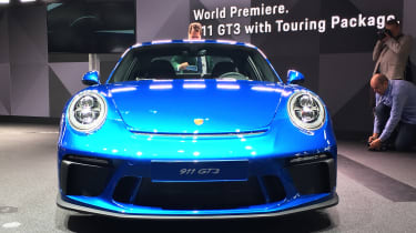 Porsche 911 GT3 Touring Frankfurt nose