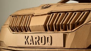 Cardboard Skoda Karoq front grille