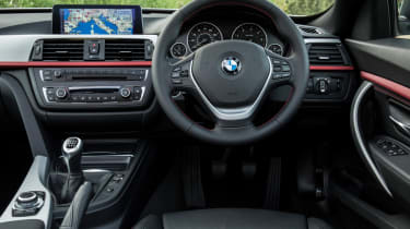 The cabin gives off BMW's usual aura of quality and solidity.