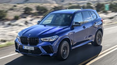 BMW X5 Competition - front tracking