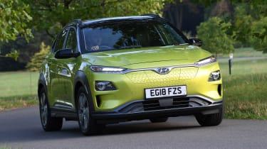 Hyundai Kona electric front quarter