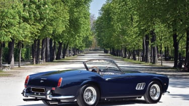 Expected to fetch in excess of €13million, this model of Ferrari has form for achieving sale prices of incomprehensible amounts of money. One of only 16 open-headlight SWB California Spiders ever produced, this particular example was f