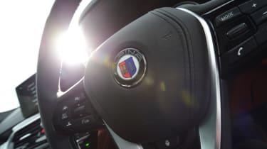 Alpina D5 S steering wheel close