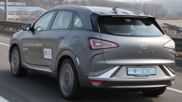 Hyundai NEXO rear grey