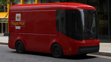 Arrival Royal Mail van