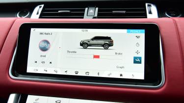 Range Rover HST - screen