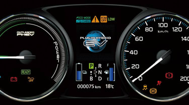 Mitsubishi Outlander PHEV dials